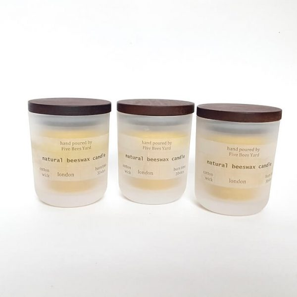 natural beeswax candle