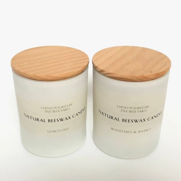 relaxation candle in glass container