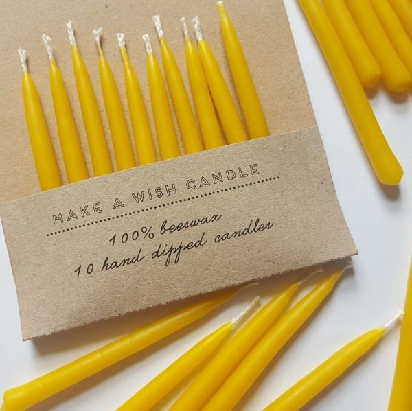 decorative beeswax candle safe for any use