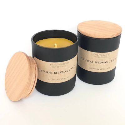 unscented candle made of raw beeswax