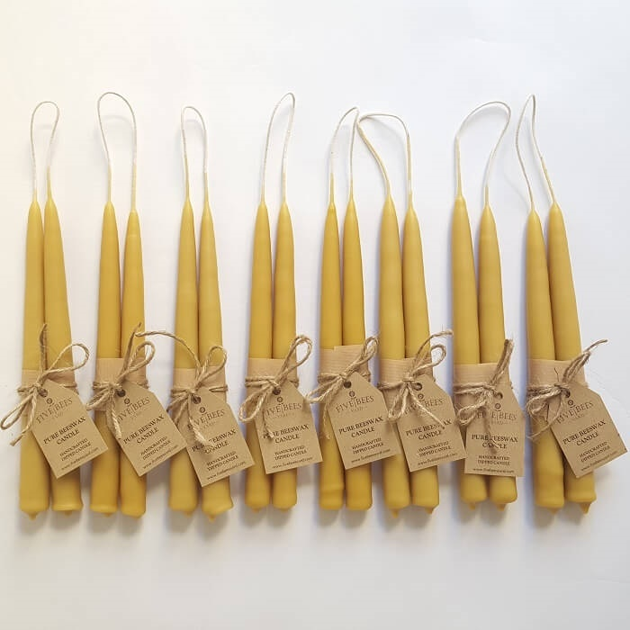 Set of Handmade Beeswax Candles