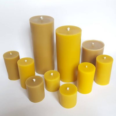beeswax ecofriendly candle for lantern