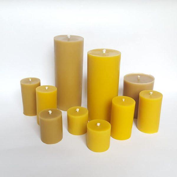 smokeless and dripless pillar candles