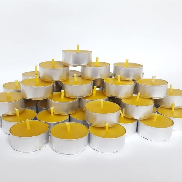 beeswax tealights candles with pre waxed wick