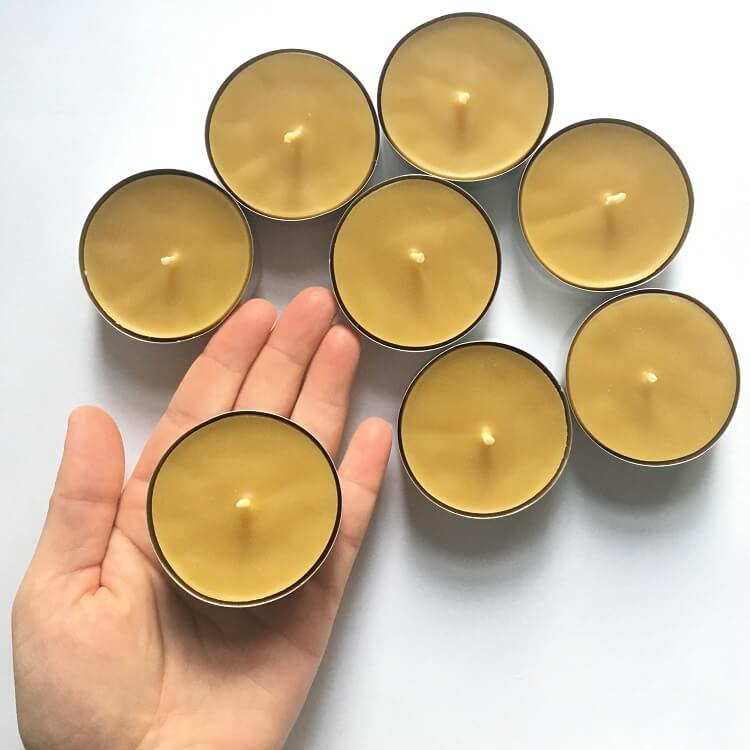 large beeswax tealight