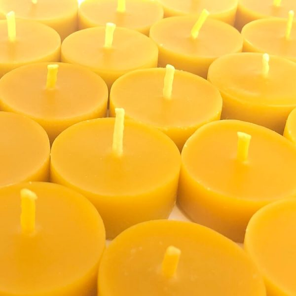 beeswax tea lights without cups