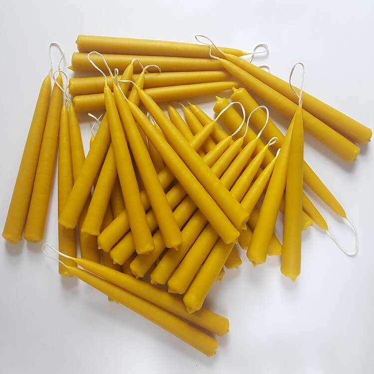 beeswax tapered candles